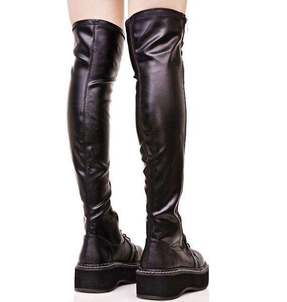 Demonia Hellraiser Lace-Up Boot