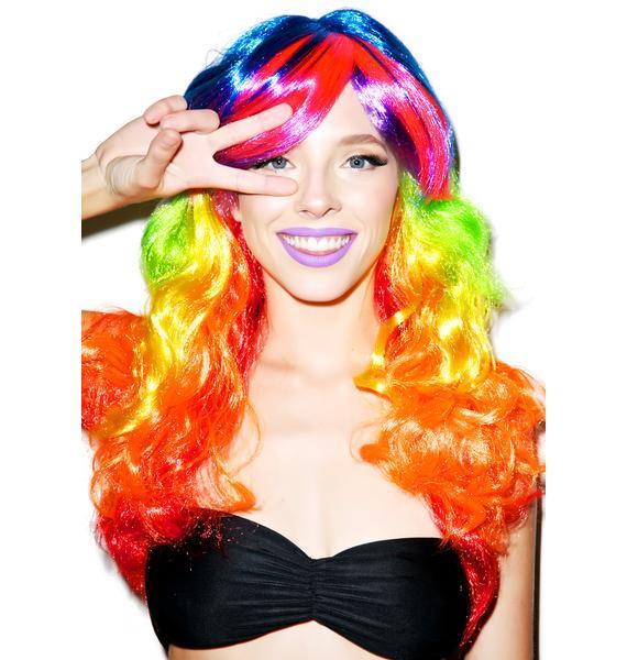 Rainbow Babe Wig