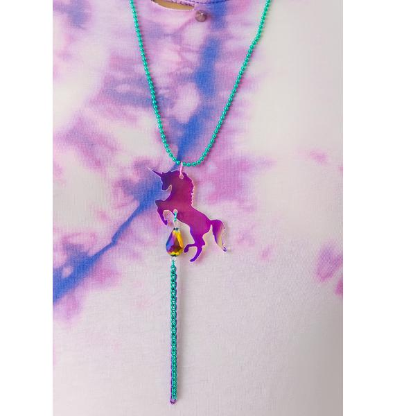 Suzywan Deluxe Unicorn Fantasma Iridescent Necklace