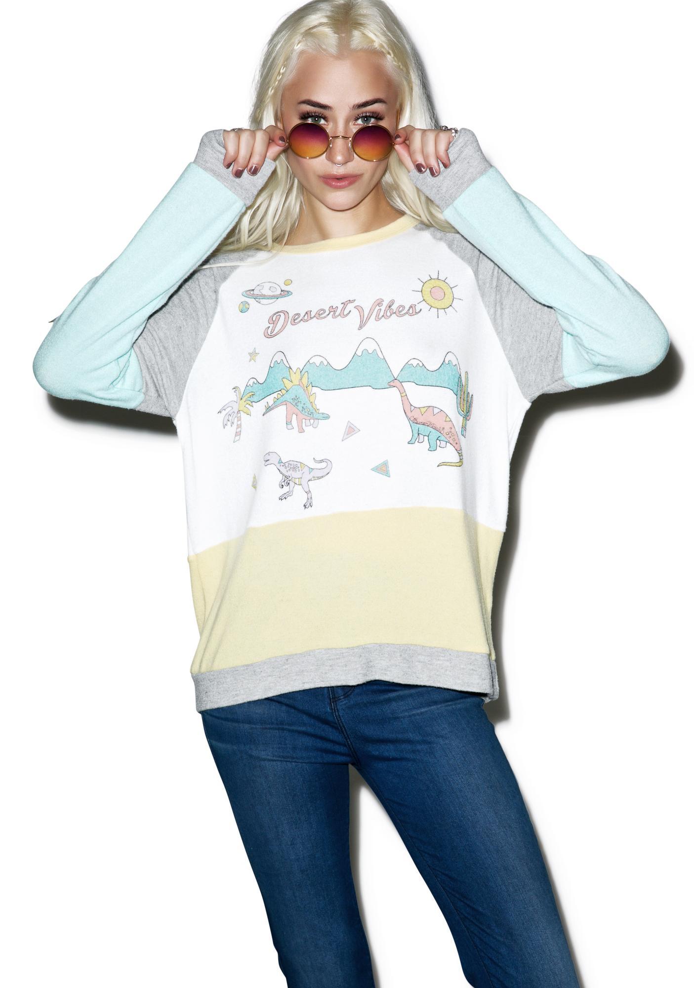 Lauren Moshi Color Block Vintage Pullover