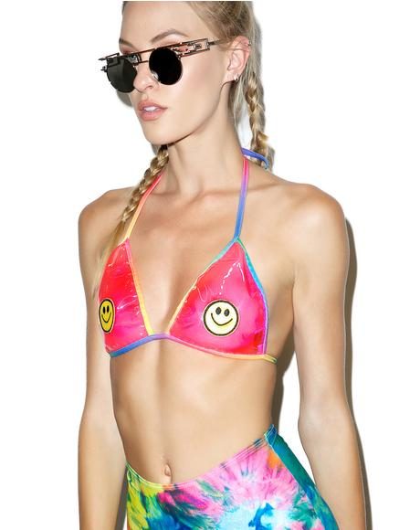 All Smilez Vinyl Bra