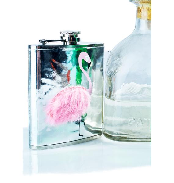 Skinnydip Flamingo Fluff Flask