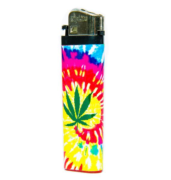 Blazin Weed Tie Dye Lighter