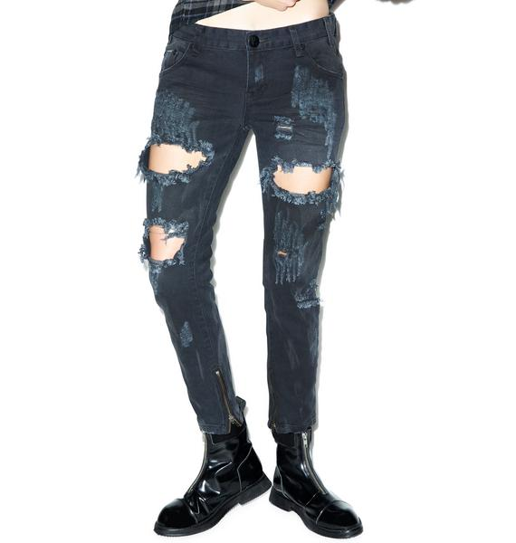 One Teaspoon Vintage Trashed Freebird Jeans