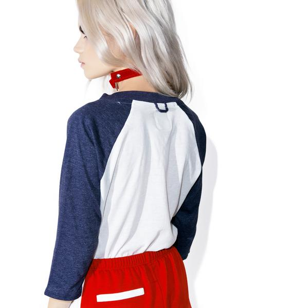 Camp Collection American Woman Baseball Tee