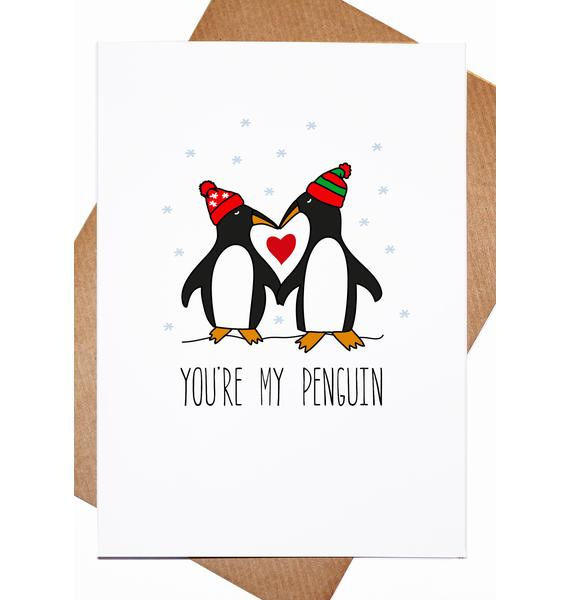 Lost Marbles Co Penguin Luvv Card
