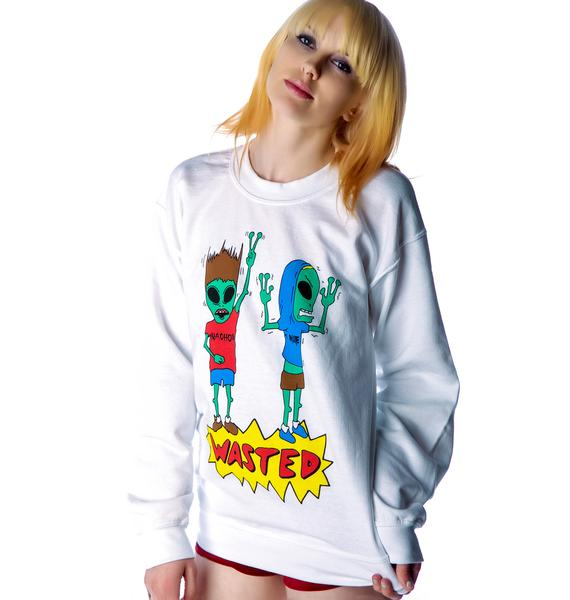 Jac Vanek Wasted Alien Crew Sweatshirt