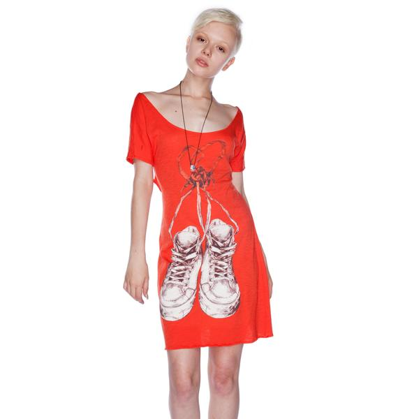 Blood Is The New Black Laced Heart Dress