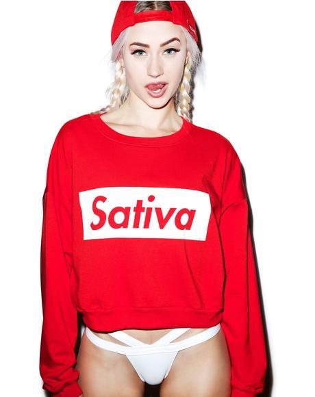 Sativa Crop Crewneck