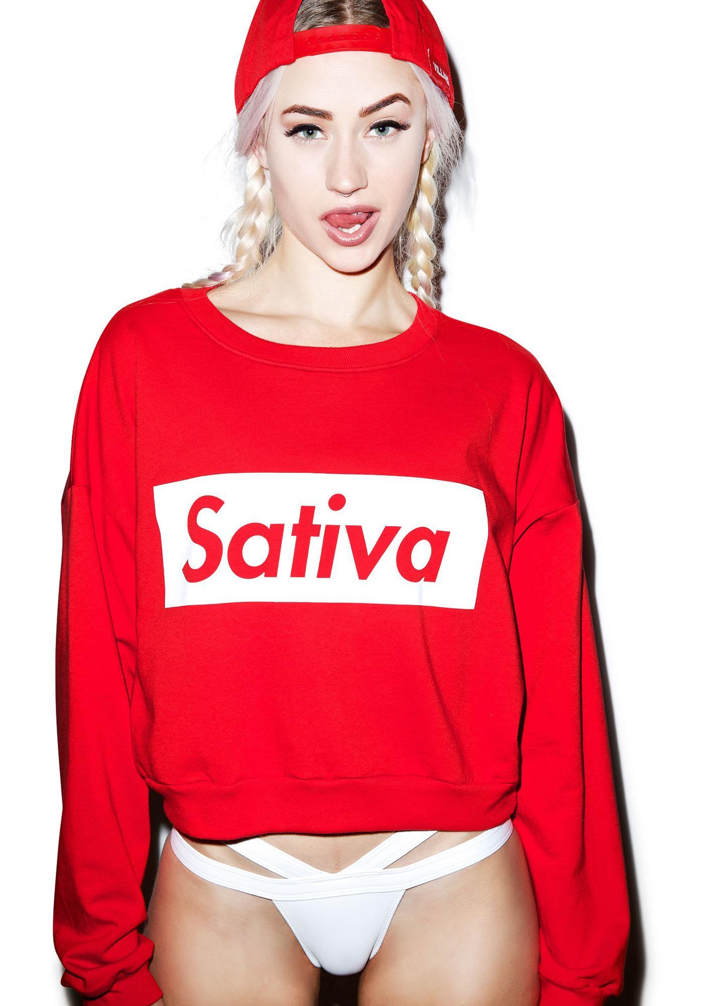 MeYouVersusLife Sativa Crop Crewneck