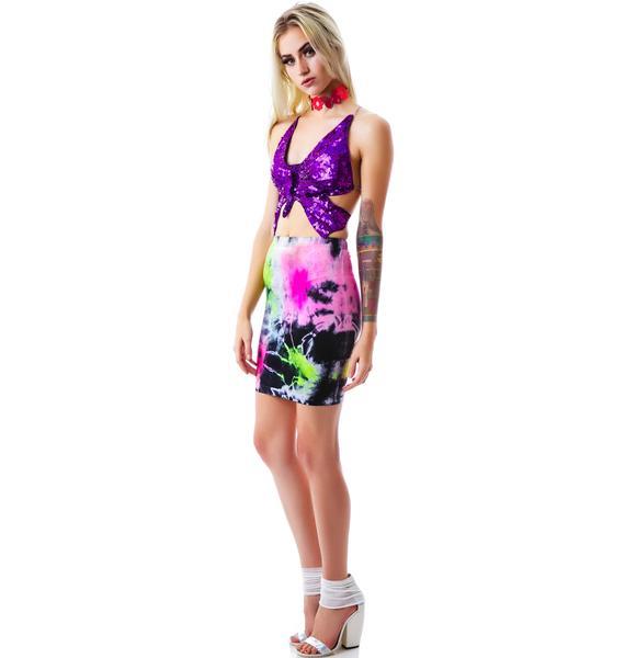 Paradise City Spandez Skirt