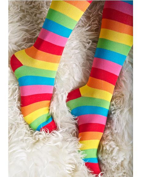 Rainbow Cutie Thigh Highs