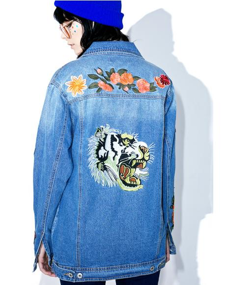 Kitsch Queen Patched Denim Jacket