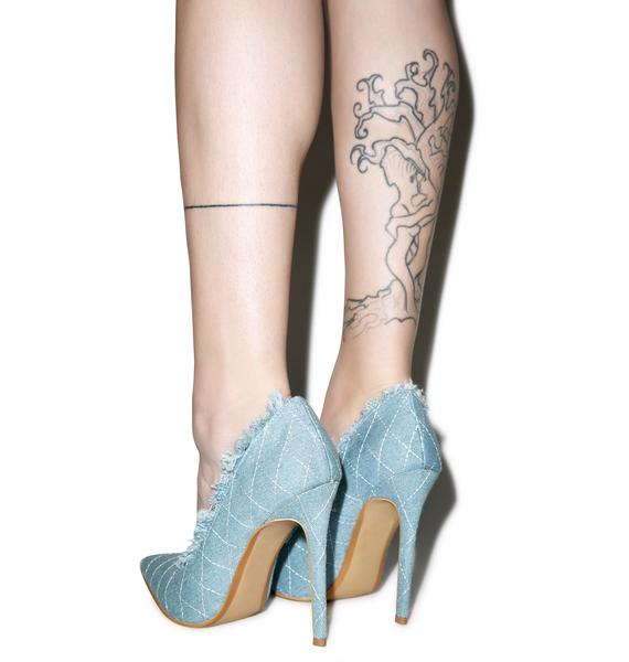 Britney Denim Heels