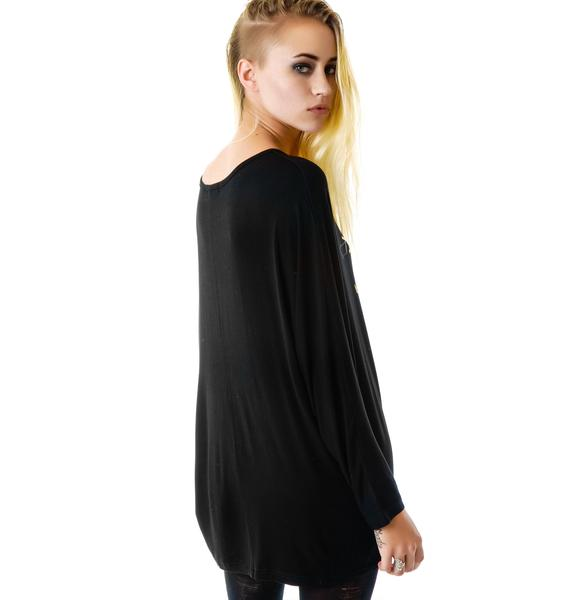Hollywood Made Miss Gold Jesus Tunic Dress