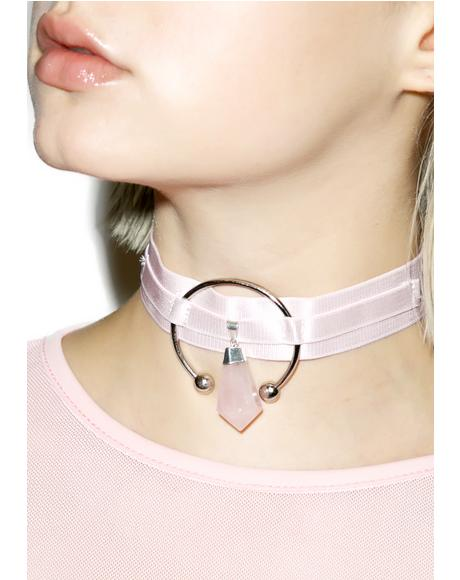 Dusted Pink Triple Goddess Choker