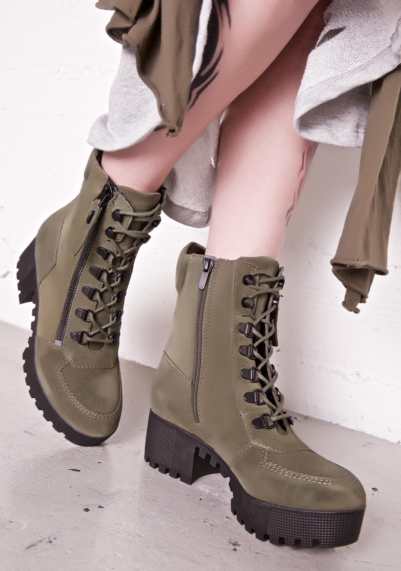 Kendall + Kylie Phoenix Lace-Up Combat Boots