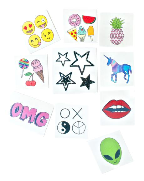 Trendy Temporary Tattoo Pack