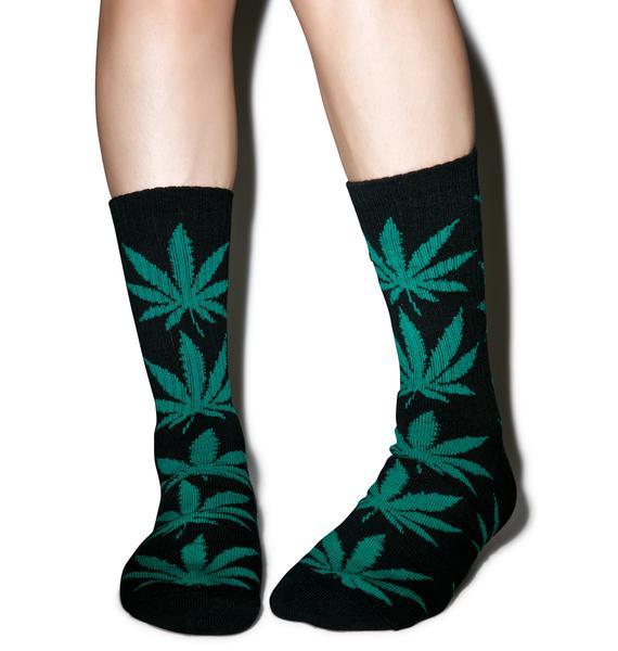 HUF Forest Plantlife Crew Sock