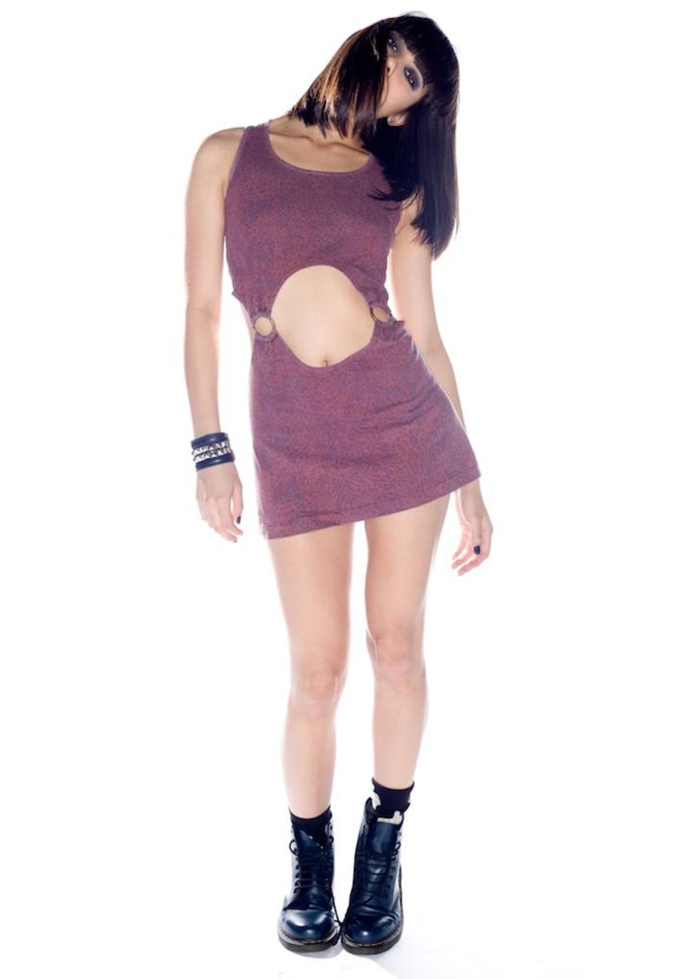 Insight Leopard Lady Cutout Dress