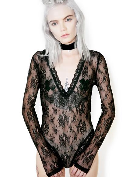 Mille-Feuille Lace Bodysuit