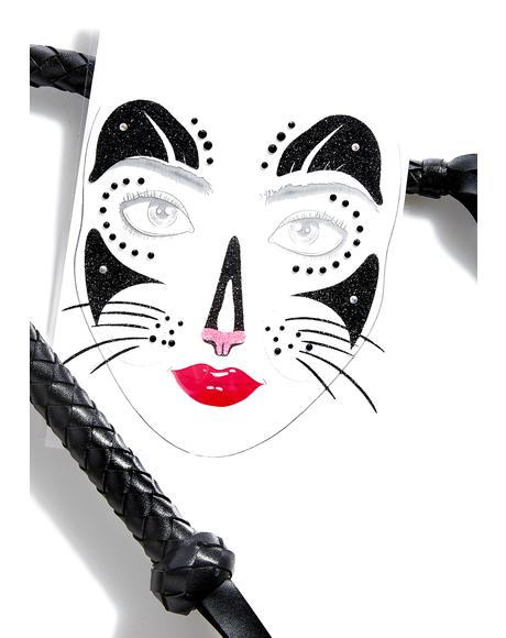 Tiger Temptress Jeweled Face Mask