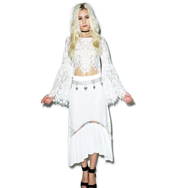 For Love & Lemons Vika Crop Top
