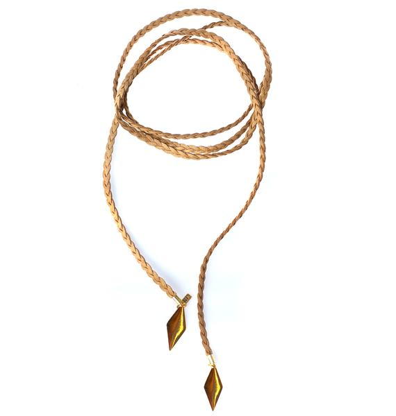 Vanessa Mooney The Braided Diamond Bolo Choker
