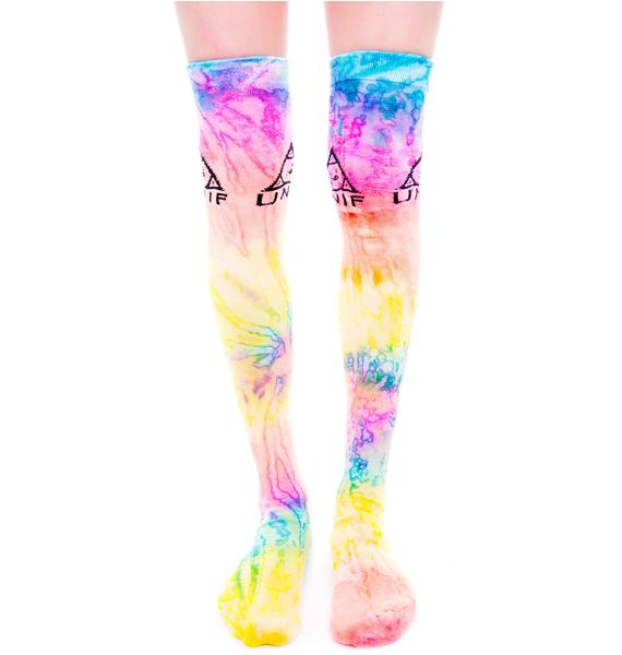 UNIF Knee Dye Socks