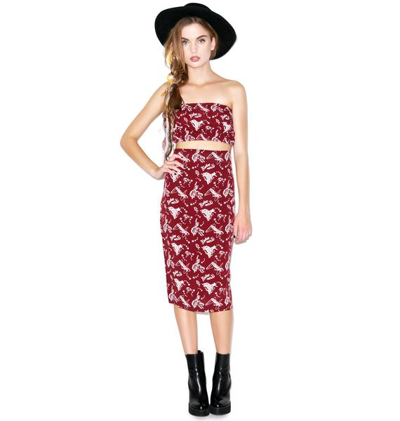 For Love & Lemons Buckaroo Babe Skirt