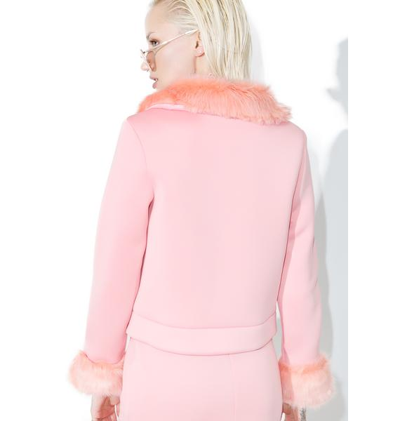Shade London Faux Fur Trim Jacket