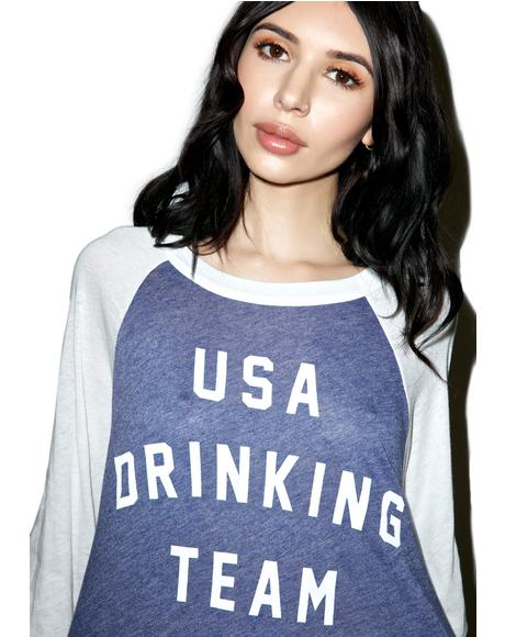 USA Drinking Team Rebel Raglan