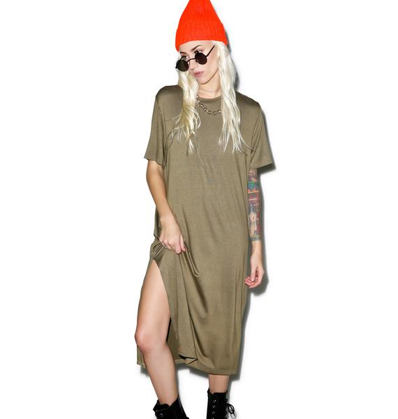 Renegade Midi Shirt Dress
