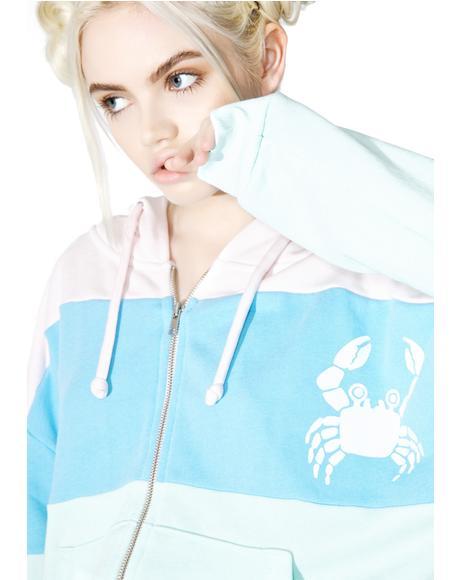 Sand Crab Stripe Hoodie