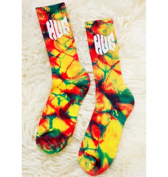HUF Tie Dye Griffin Crew Socks