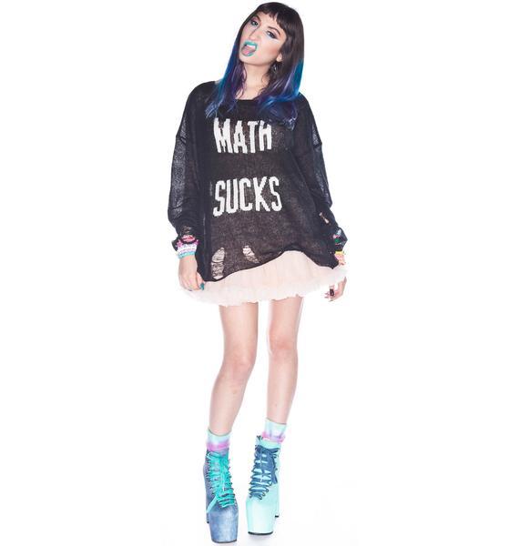 Wildfox Couture Math Sucks Lennon Sweater