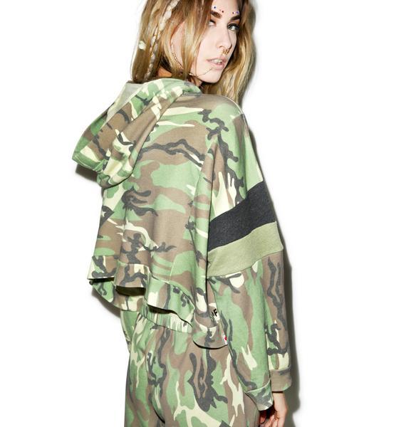 Wildfox Couture Classic Camo Draped Hoodie