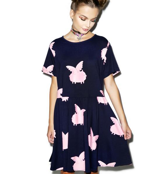 Lazy Oaf Pigs Fly Dress