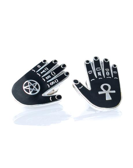 Yes & No Hands Pin Set