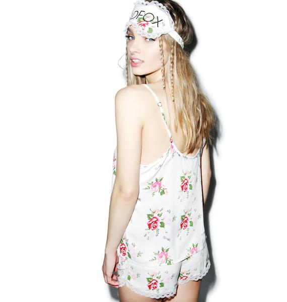 Wildfox Couture Lover's Bouquet Keyhole Cami Set