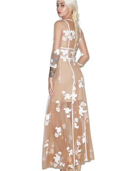 Nude Elenora Maxi Dress