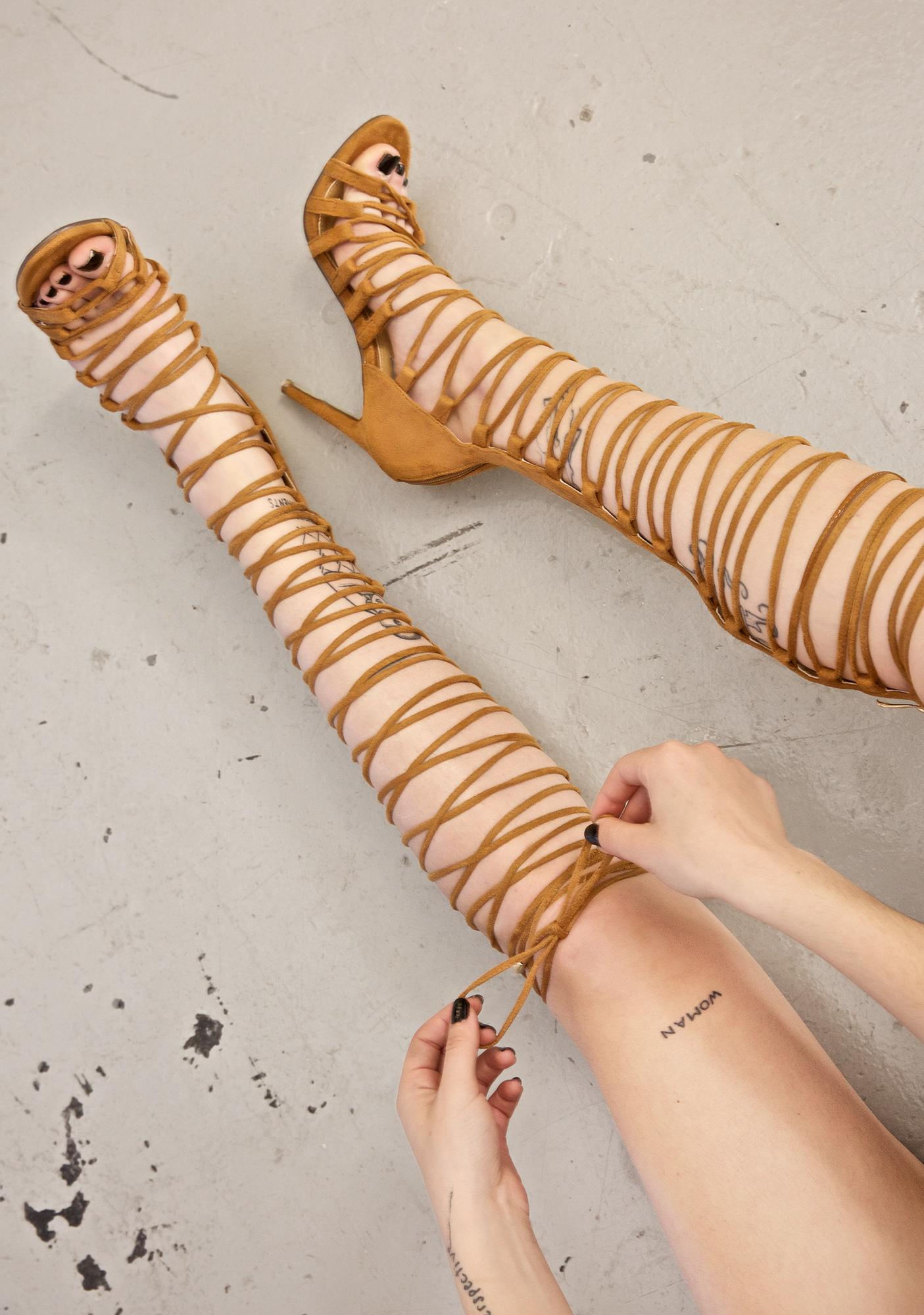 Sandy Supermodel Strappy Heels