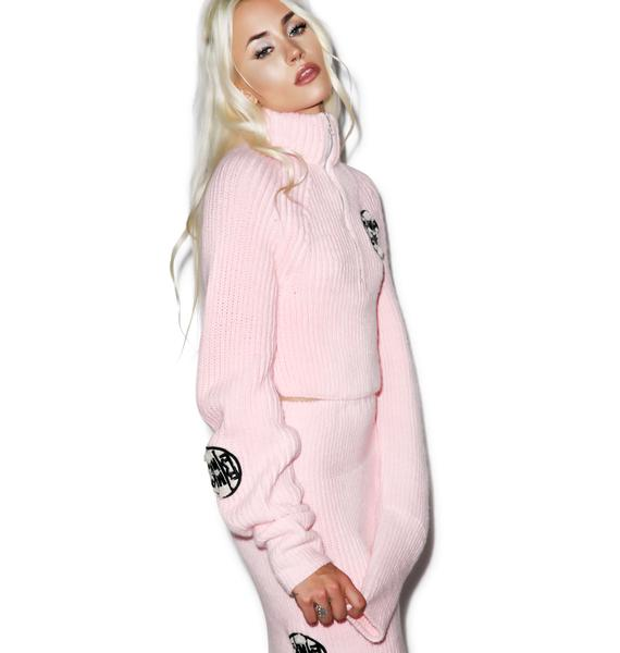 Maria ke Fisherman Fluffy Crop Sweater