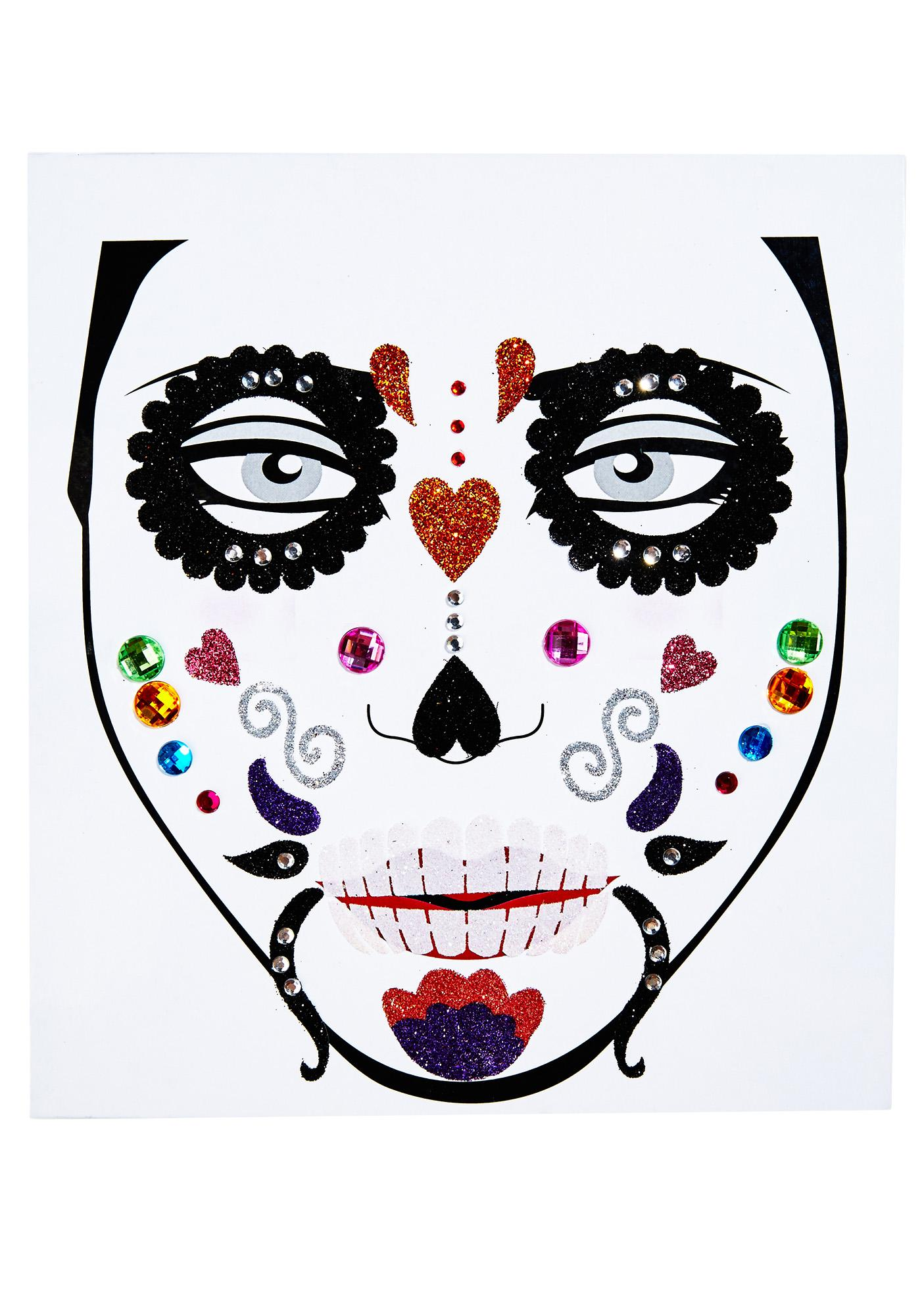 Love And Madness Day Of The Dead Face Jewels