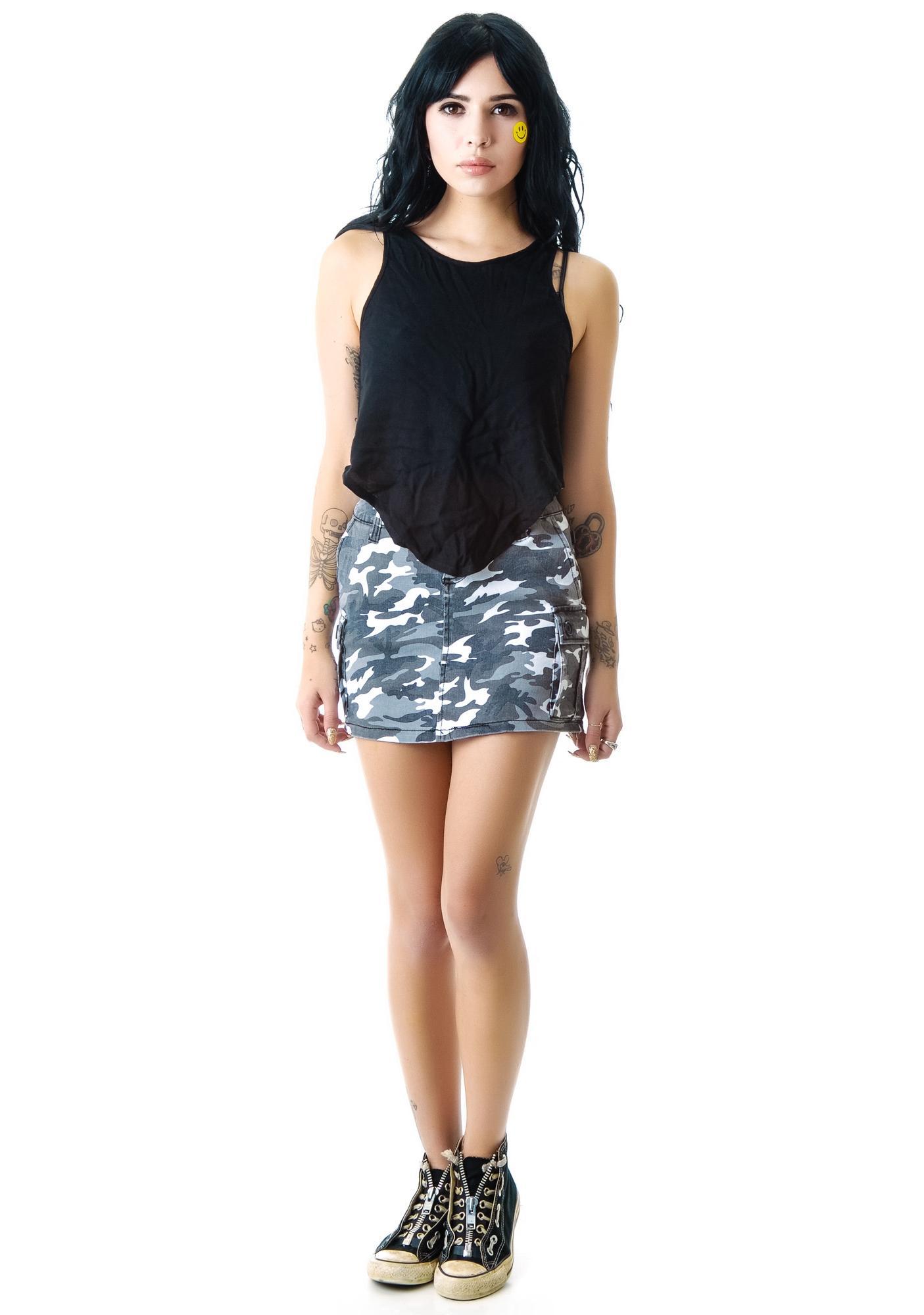 Tripp NYC Camo Cargo Skirt