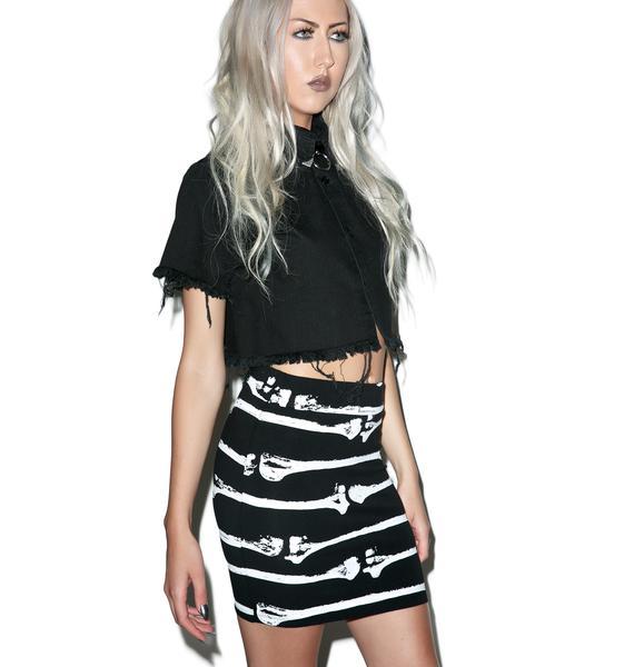 Iron Fist Bone Me Mini Skirt