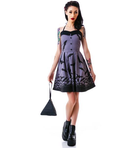 Sourpuss Clothing Spooksville Bats Dress