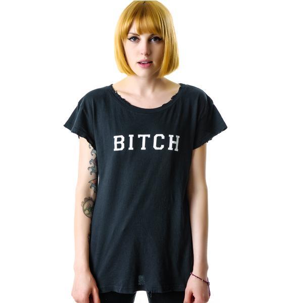Wildfox Couture Bitch Hippie Crew
