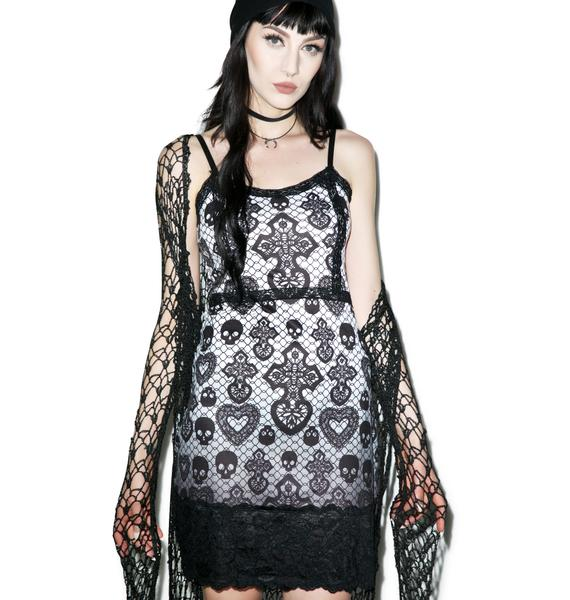 Skull Lace Curse Bodycon Dress