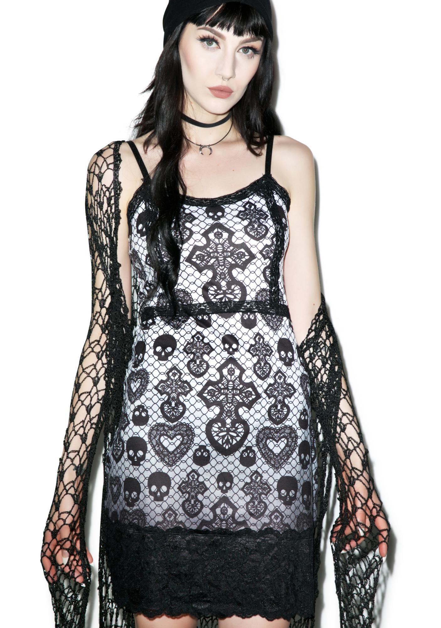 Skull Lace Curse Bodycon Dress